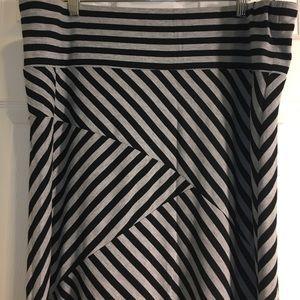 Striped Maxi skirt 1x